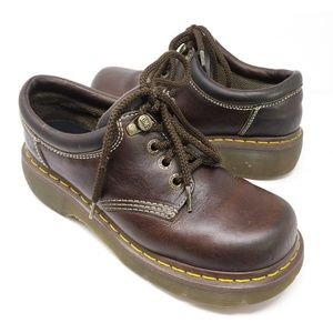 Doc Martens brown leather oxfords, Mens 7 Womens 8
